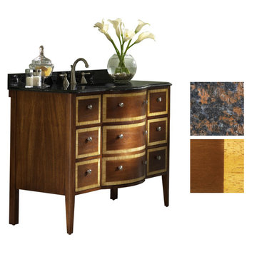Kaco Guilford Manor 48 Cognac Vanity With Tan Brown Granite Top