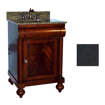 Kaco John Adams 24 Brown Cherry Vanity With Black Granite Top