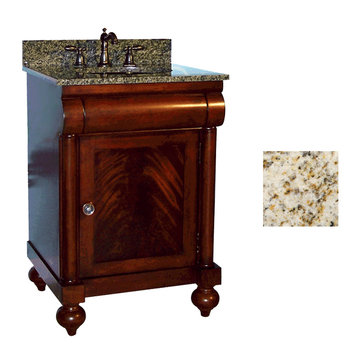Kaco John Adams 24 Brown Cherry Vanity With Gold Hill Granite Top