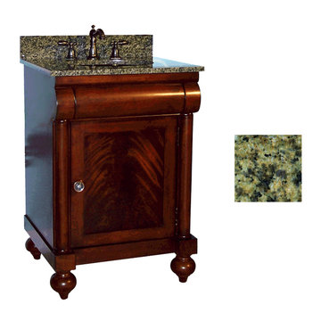 Kaco John Adams 24 Brown Cherry Vanity With Green Granite Top