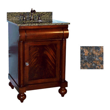 Kaco John Adams 24 Brown Cherry Vanity With Tan Brown Granite Top