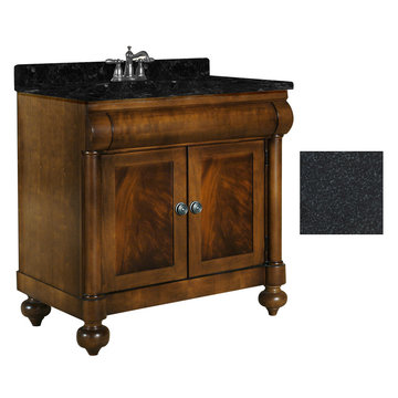 Kaco John Adams 36 Brown Cherry Vanity With Black Granite Top