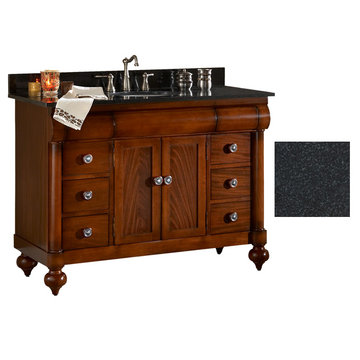 Kaco John Adams 48 Brown Cherry Vanity With Black Granite Top