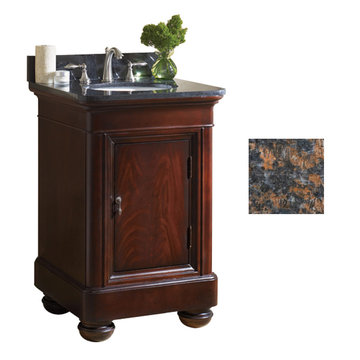 Kaco Mount Vernon 24 Merlot Vanity With Tan Brown Granite Top