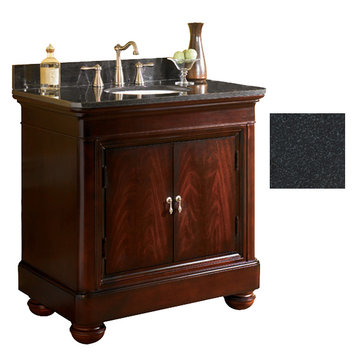 Kaco Mount Vernon 36 Merlot Vanity With Black Granite Top