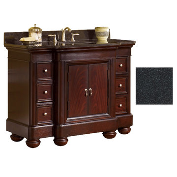 Kaco Mount Vernon 48 Merlot Vanity With Black Granite Top