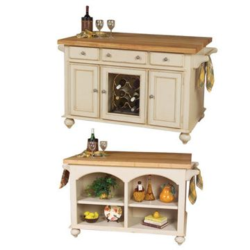 Kaco Signature A La Carte Butcher Block 54 Black Kitchen Island