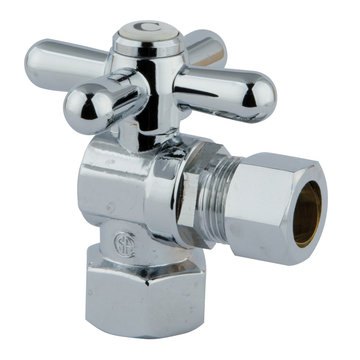 1/2 Inch Classic Decorative Quarter Turn Valves - Cross Handle