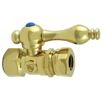 Restorers 1/2 Inch Classic Decorative 1/4 Turn Valves - Lever Handle