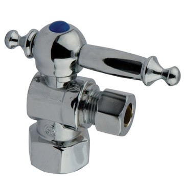 1/2 Inch Decorative Concave Quarter Turn Valves - Lever Handle