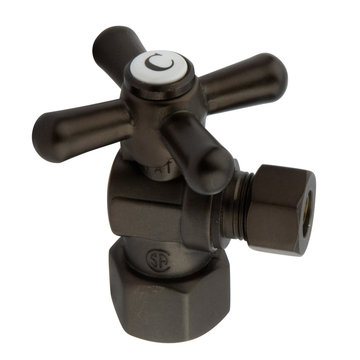 1/2 Inch Decorative Quarter Turn Valves - Cross Handle