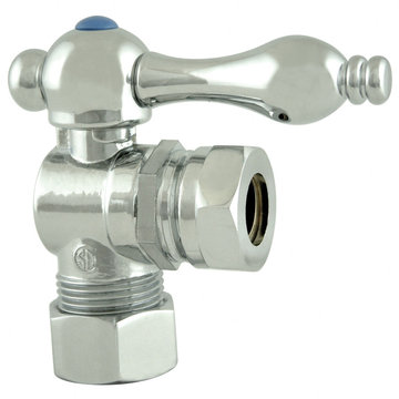 1/2 Inch Ips Curved Decorative Quarter Turn Valves - Lever Handle