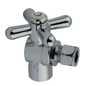1/2 Inch Sweat Decorative Quarter Turn Valves - Cross Handle
