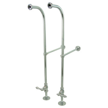 23 Inch Freestanding Water Supplies With Stop - Metal Lever