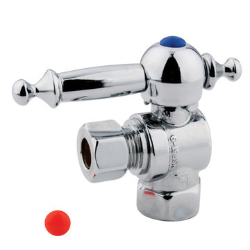 3/8 Inch Decorative Concave Design Quarter Turn Valves - Lever Handle