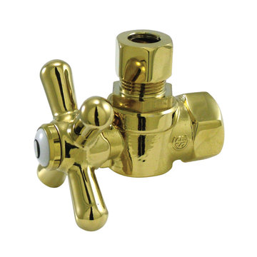 3/8 Inch Decorative Quarter Turn Valves - Cross Handle
