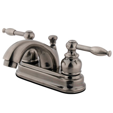 Restorers 4 Inch Classic Centerset Lavatory Faucet - Knight Lever