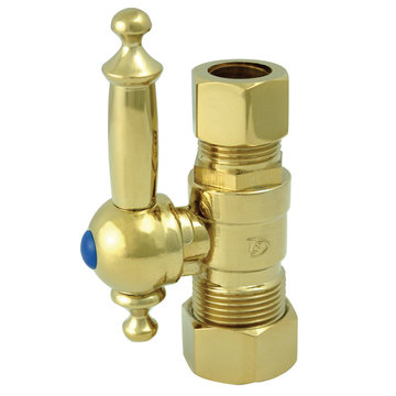 5/8 Inch Concave Decorative Quarter Turn Valves - Lever Handle