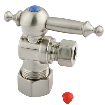 5/8 Inch Decorative Concave Quarter Turn Valves - Lever Handle
