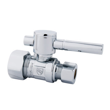 5/8 Inch Modern Decorative Quarter Turn Valves - Lever Handle