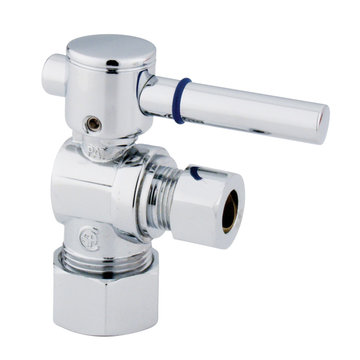 5/8 Inch Straight Decorative Quarter Turn Valves - Lever Handle