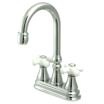 Bar Faucet - Porcelain Cross