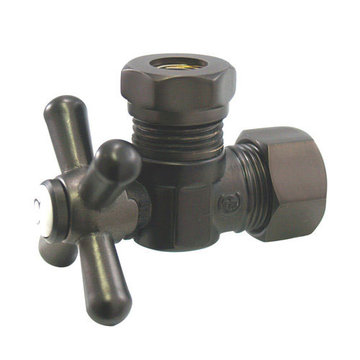 Classic 5/8 Inch Decorative Quarter Turn Valves - Cross Handle
