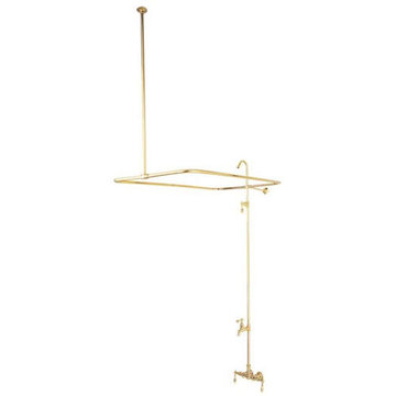 Restorers Clawfoot Tub Faucet and Shower System - Metal Lever