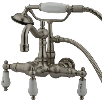 Restorers Heritage Clawfoot Tub Faucet & Hand Shower - Porcelain Lever