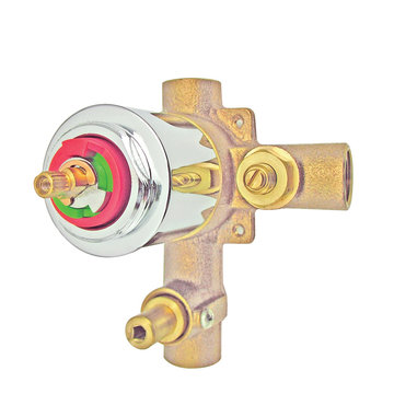 Pressure Balanced Tub/Shower Faucet Valve Only - Metal Lever
