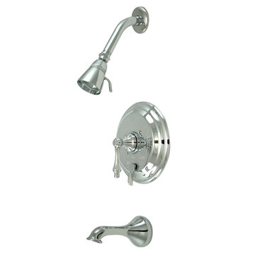 Pressure Balanced Tub/Shower Faucet Set - Metal Lever