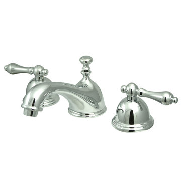 Restoration Widespread Lavatory Faucet With 8 - 16 Inch Spread - Metal Lever