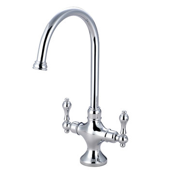 Restorers Vintage Classic Kitchen Faucet Without Sprayer - Metal Lever