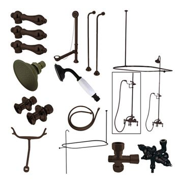 Restorers Vintage Down Spout Shower Package - Metal Lever