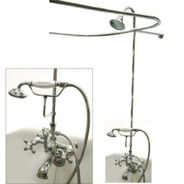 Vintage Shower Package With Single Offset Supply - Metal Cross