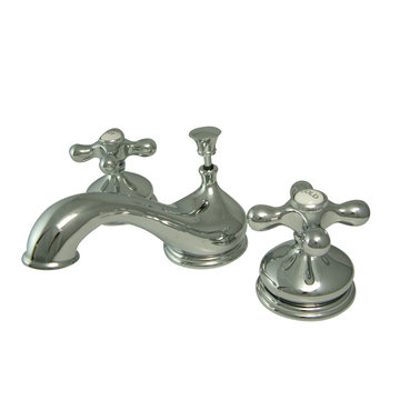 Widespread Lavatory Faucet - Metal Cross