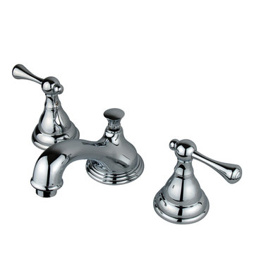 Widespread Lavatory Faucet With 8 - 16 Inch Spread - Buckingham Lever