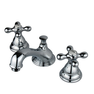 Widespread Lavatory Faucet With 8 - 16 Inch Spread - Metal Cross
