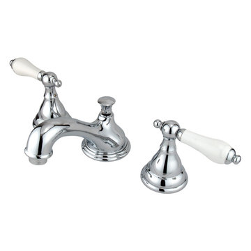 Widespread Lavatory Faucet With 8 - 16 Inch Spread - Porcelain Lever