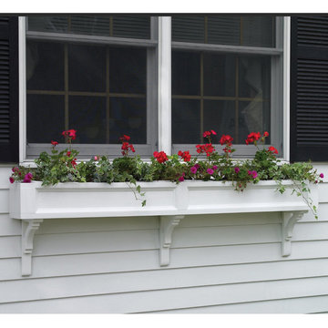 Lazy Hill Farm Federal Cedar Window Box With Curved Mounting Brackets