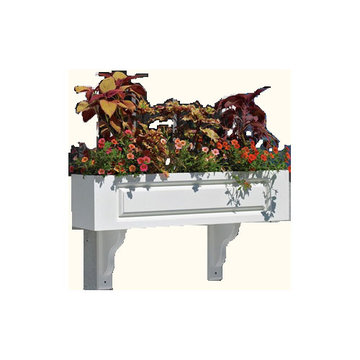 Lazy Hill Farm Hampton Vinyl Window Box With Mounting Brackets