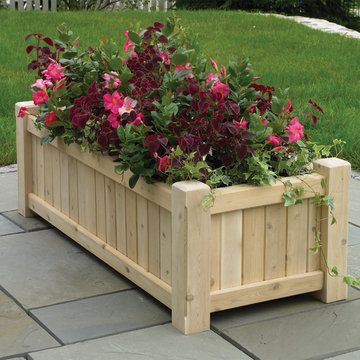 Lazy Hill Farm Large Rectangular Cedar Planter