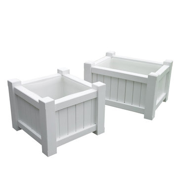 Lazy Hill Farm Large Rectangular White Planter