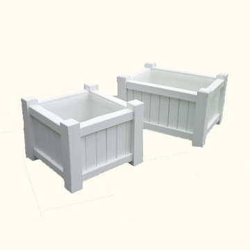 Lazy Hill Farm Small Rectangular Cedar Planter