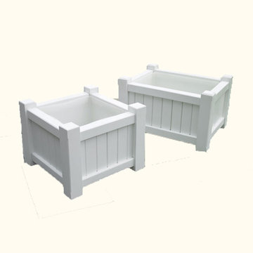 Lazy Hill Farm Small Rectangular White Planter