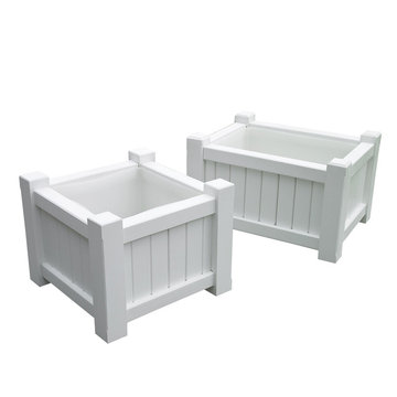 Lazy Hill Farm Small Square White Planter