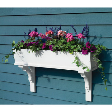 Lazy Hill Farm Sunrise Cedar Window Box With Curved Mounting Brackets