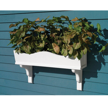 Lazy Hill Farm Weaver Cedar Window Box With Decorative Mounting Brackets