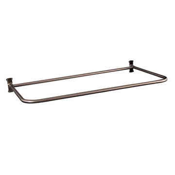 Barclay 26 Inch X 54 Inch D-Shape Shower Rod With Flanges
