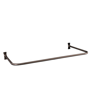 Barclay 30 Inch U-Shape Shower Rod With Flanges